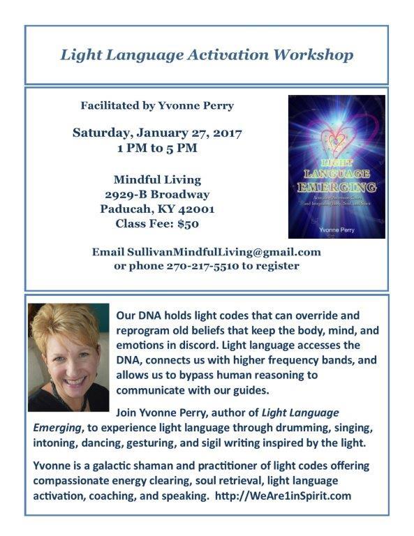 Light Language Seminar Flyer for Debe